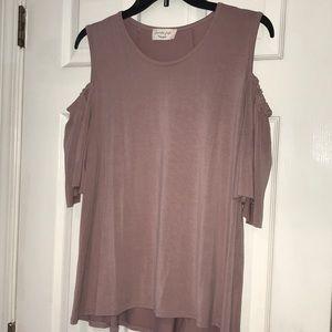 NWOT lavender field cold shoulder blouse